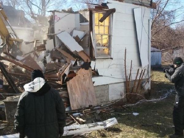 maison détruite