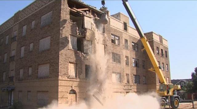 Amarillo Texas hante la démolition d'un bâtiment